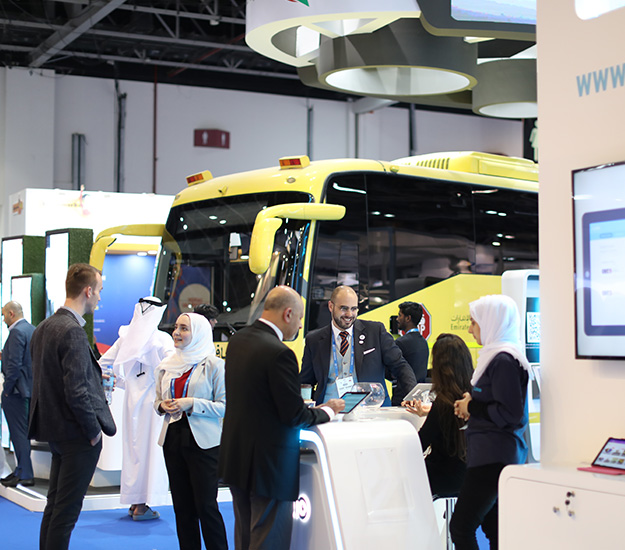 Platinum sponsor emirates transport displaying the latest bus and transportation options at GESS Dubai